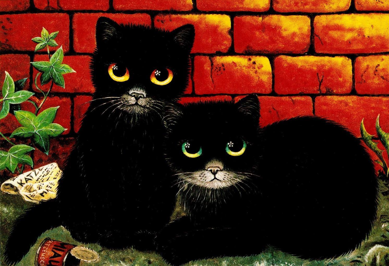 утомительно, результаты картинка двух черных кошек каждая