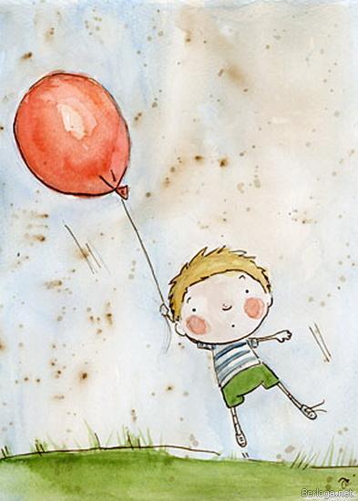 Мальчик и шарик - Бесплатные картинки скачать без регистраций